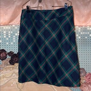Talbots Plaid Wool Skirt